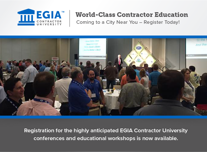 World-Class Contractor Education Coming to a City Near You - Register Today!