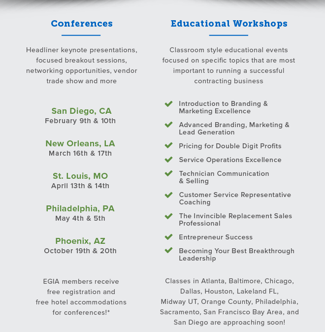 Conferences and Educational Workshops