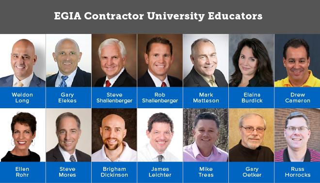 EGIA Contractor University Educators